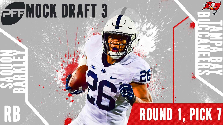 PFF Mock Draft 3 - Saquon Barkley