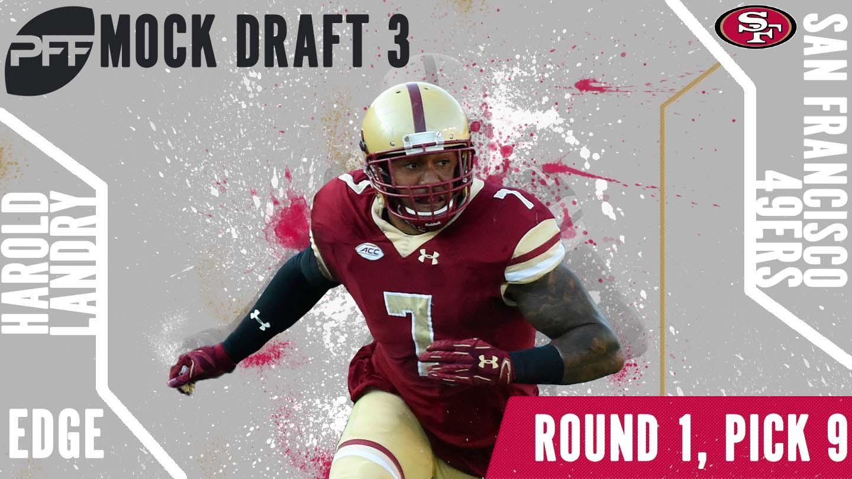 PFF Mock Draft 3 - Harold Landry