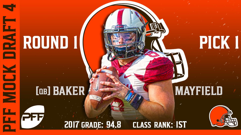2018 PFF NFL Mock Draft 4 - Baker Mayfield
