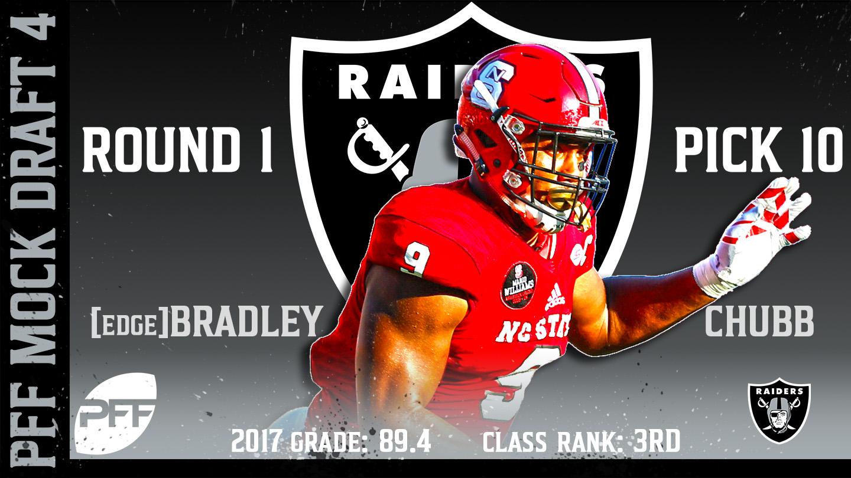 2018 PFF NFL Mock Draft 4 - No. 10 Bradley Chubb