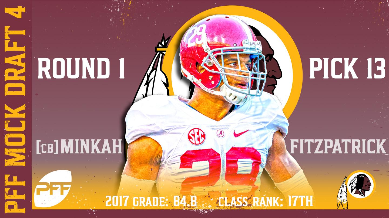2018 PFF NFL Mock Draft 4 - No. 13 Minkah Fitzpatrick
