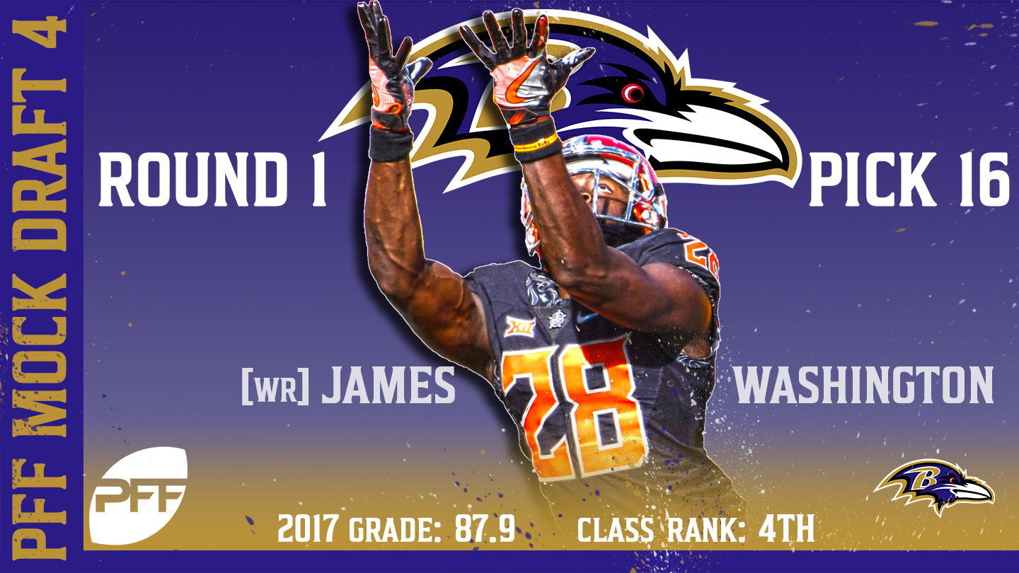2018 PFF NFL Mock Draft 4 - No. 16 James Washington