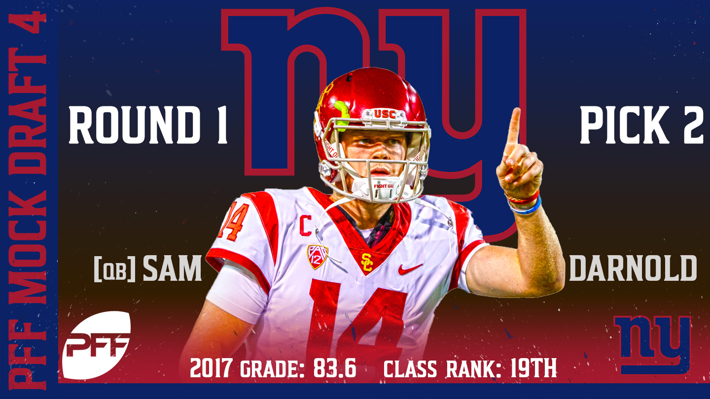 2018 PFF NFL Mock Draft 4 - No. 2 Sam Darnold