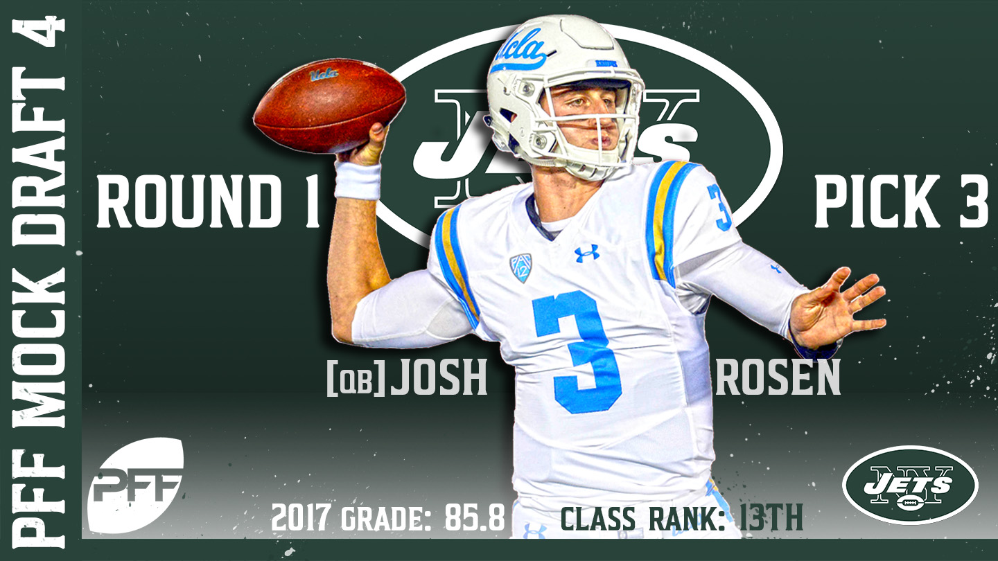 2018 PFF NFL Mock Draft 4 - No. 3 Josh Rosen