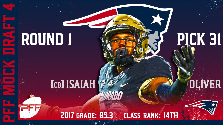 2018 PFF NFL Mock Draft 4 - No. 31 Isaiah Oliver