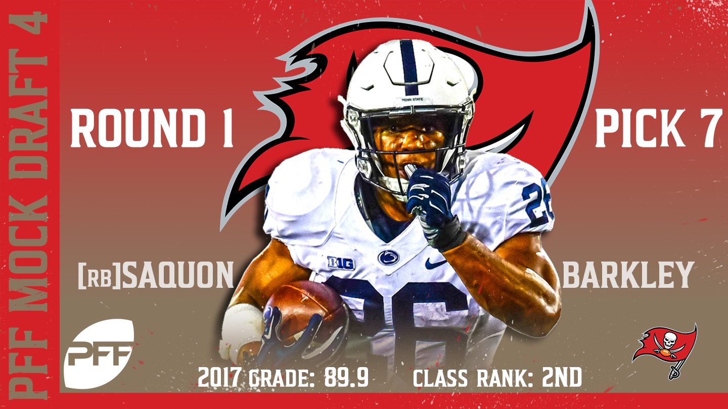 2018 PFF NFL Mock Draft 4 - No. 7 Saquon Barkley