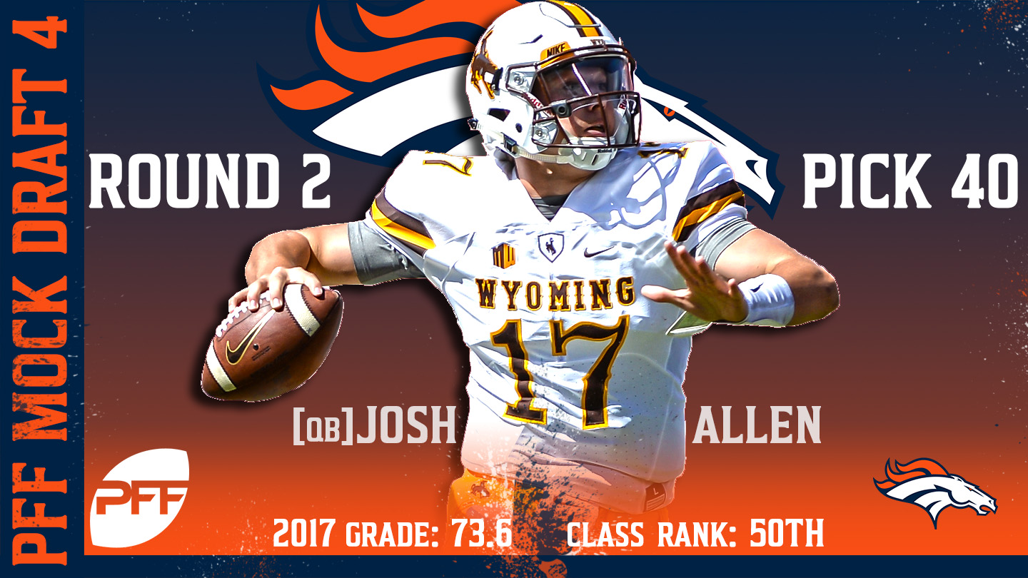 2018 PFF NFL Mock Draft 4 - No. 40 Josh Allen