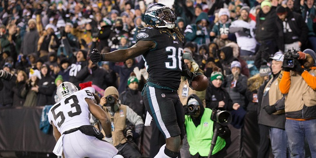 Philadelphia Eagles RB Jay Ajayi