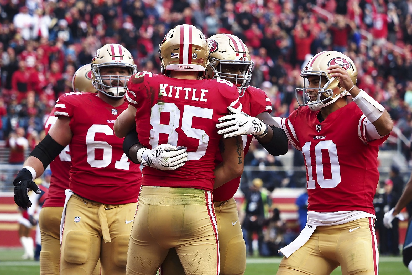 San Francisco 49ers QB Jimmy Garoppolo TE George Kittle