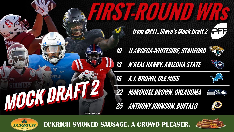 PFF 2019 NFL Mock Draft 2