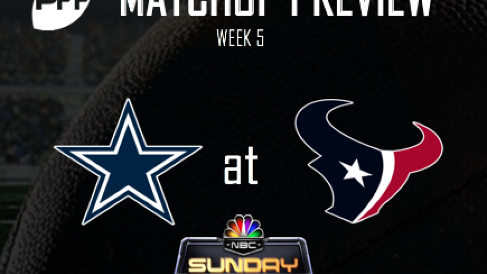 Nfl Week 5 Nbc Dallas Cowboys Houston Texans Preview Nfl News Rankings And Statistics Pff