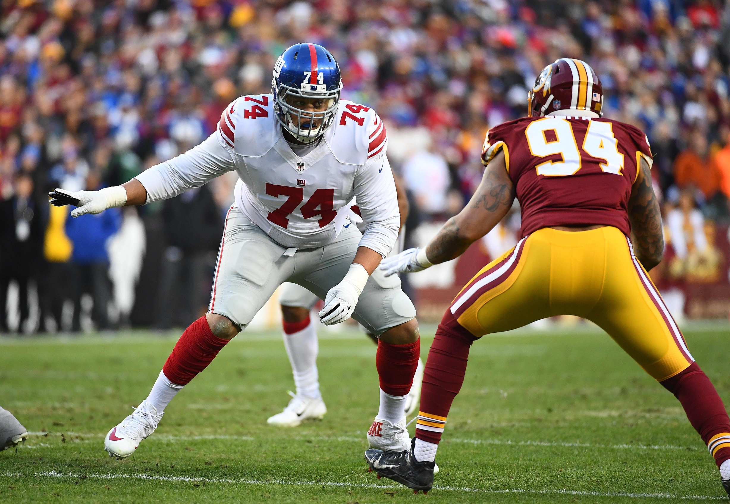 Giants parting ways with OT Flowers