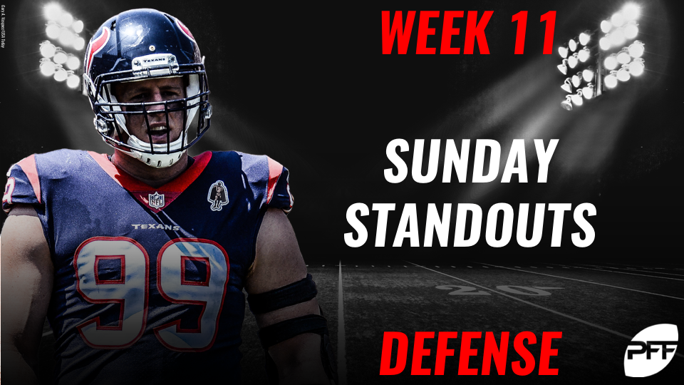 NFL Week 11 Sunday Standouts: Defense | NFL Analysis | Pro Football