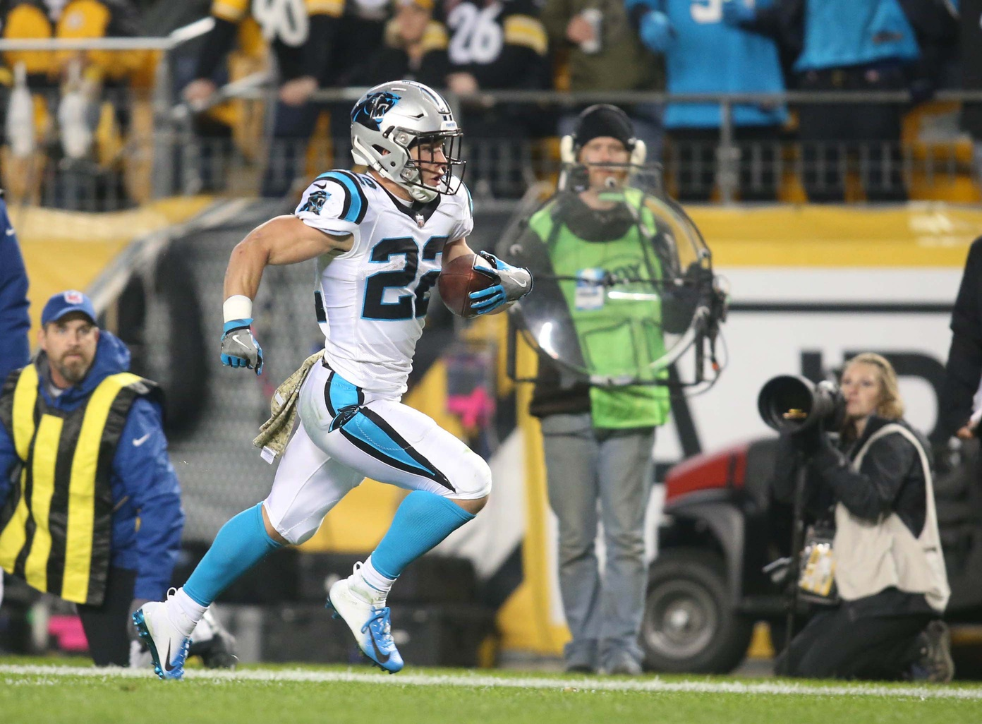 Now Nine Games Into His Sophomore Season In The Nfl Carolina Panthers Running Back Christian Mccaffrey Is Answering The Leagues Call For A Modern