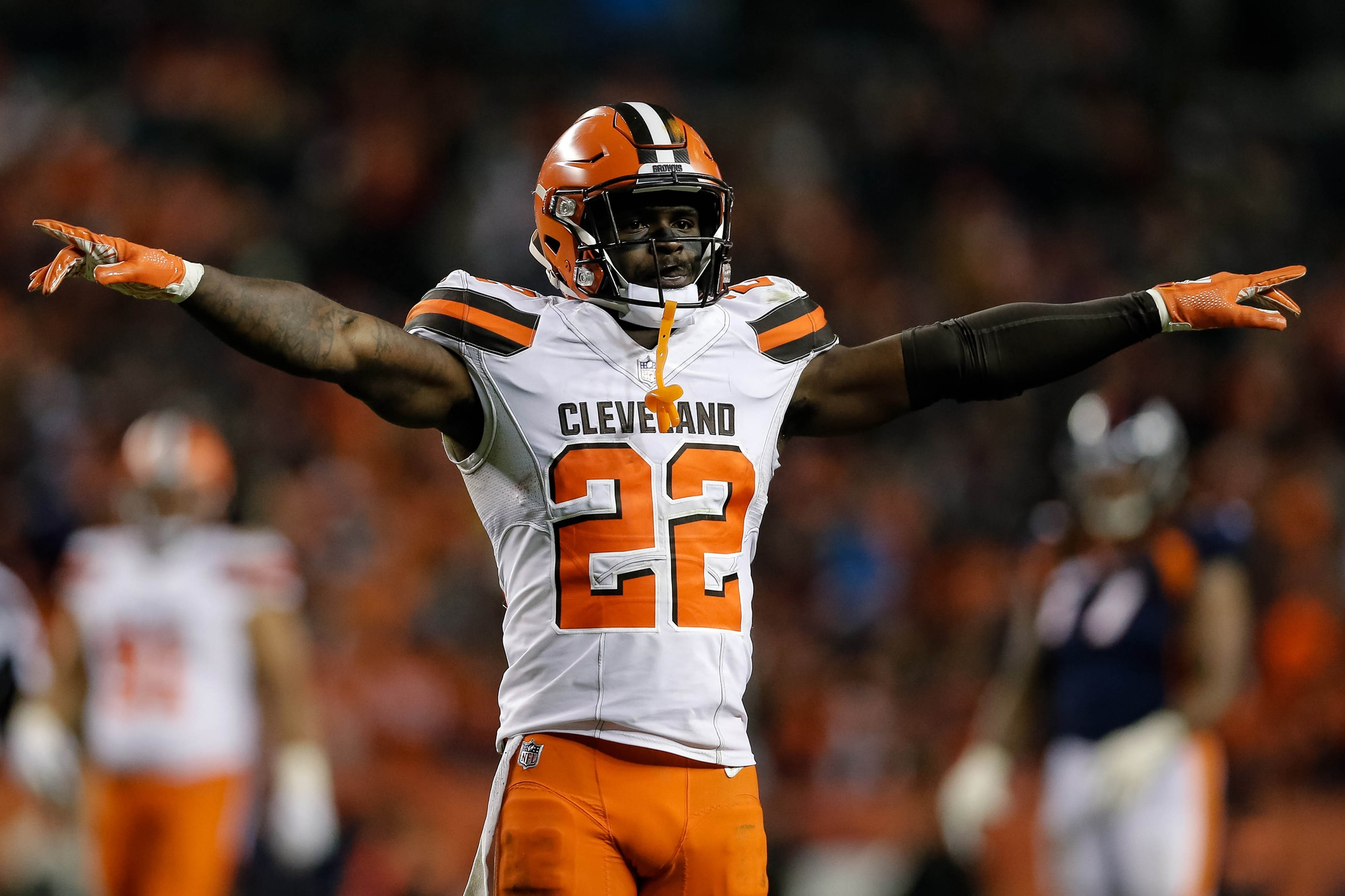 Career game for Jabrill Peppers continues trend of improved play in 2018