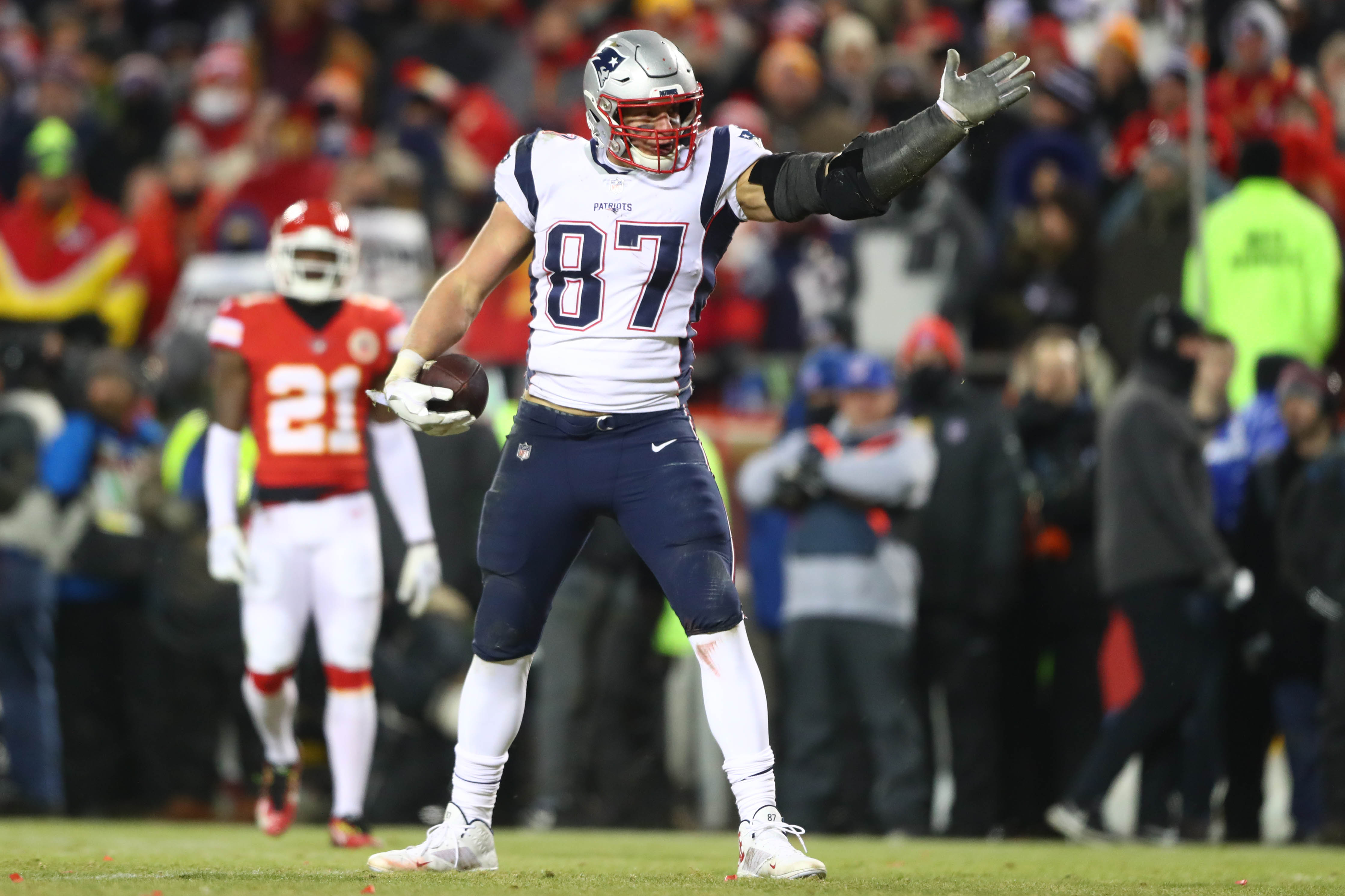 Gronk says he'll party first, discuss retirement later
