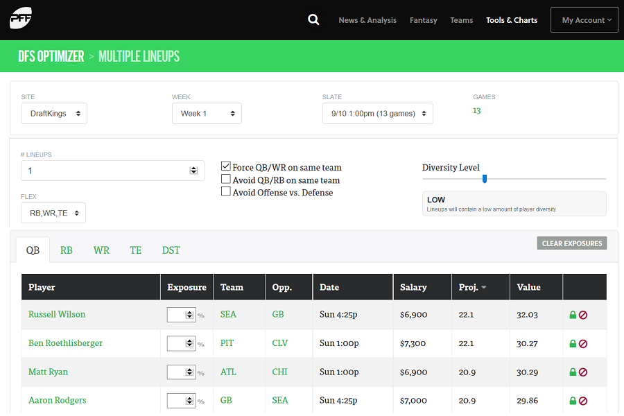 DFS optimizer