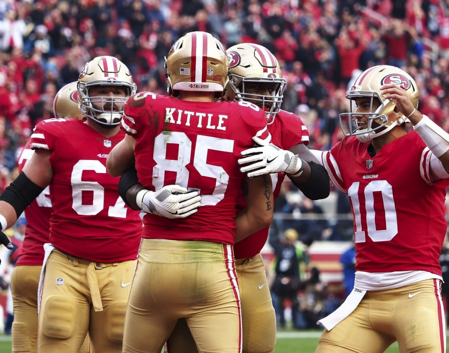 With Jimmy Garoppolo back under center, George Kittle could make his mark as the best tight end in the NFL | NFL News, Rankings and Statistics | Pro Football Focus