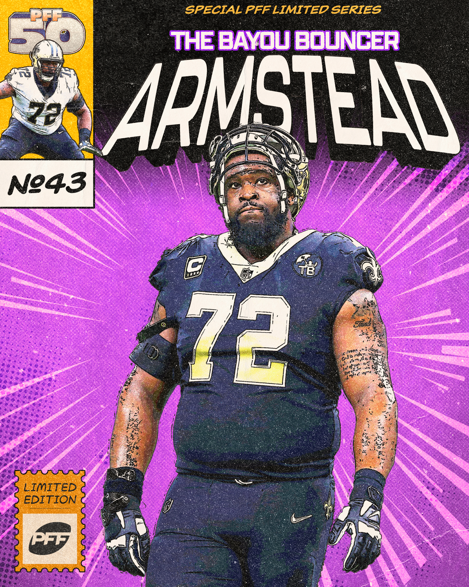 New Orleans Saints left tackle Terron Armstead